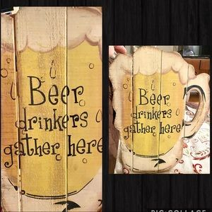Other - Wooden rustic pub style decor